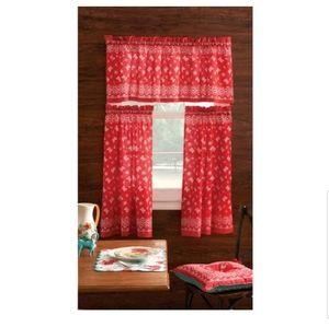 3-Piece Kitchen Curtain new